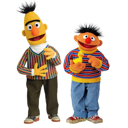 Room Mates Sesame Street Licensed Designs Burt and Ernie Giant Wall Decal
