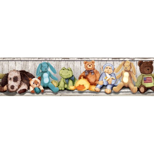 Room Mates Studio Designs Cuddle Buddies Peel and Stick Wallpaper Border