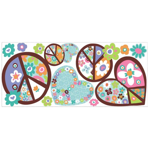 Room Mates Room Mates Deco Heart and Peace Sign Wall Decal