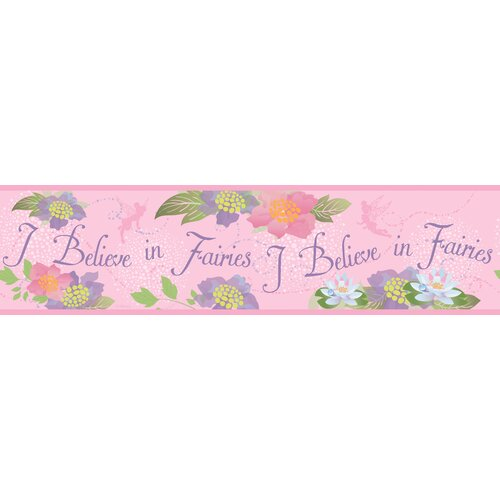 Room Mates Believe In Fairies Wallpaper Border
