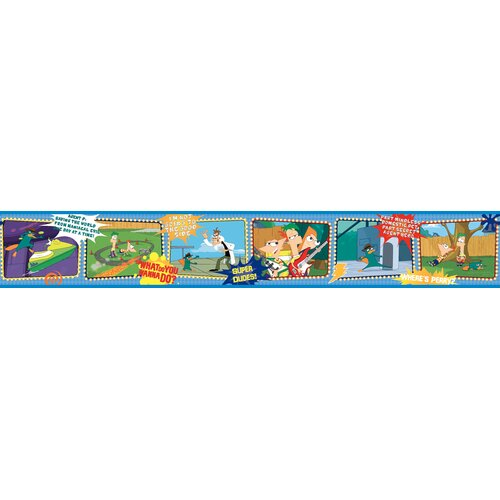 Room Mates Phineus and Ferb Wallpaper Border