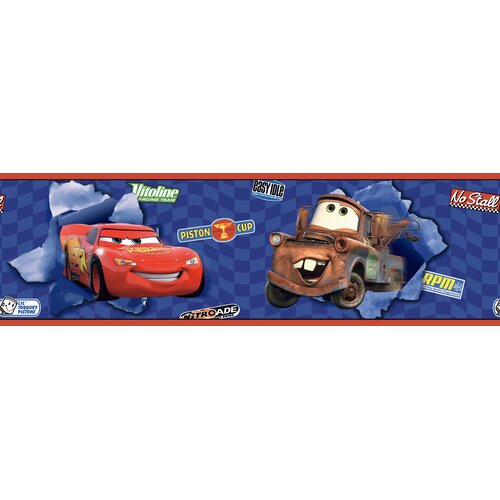 Room Mates Cars Lightning McQueen and Mater Wallpaper Border