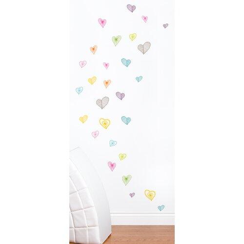 Room Mates Mia & Co Light Hearts Wall Decal