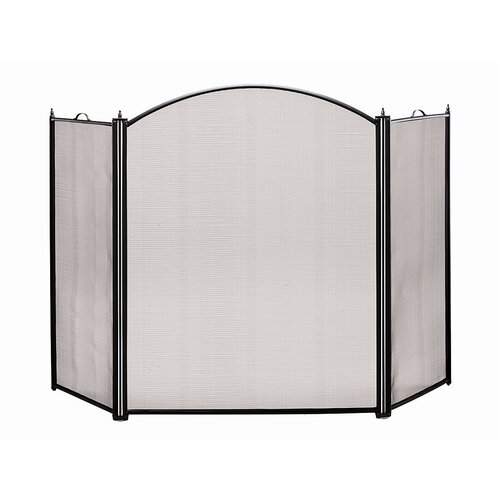 Minuteman International Arched 3 Panel Steel Fireplace Screen