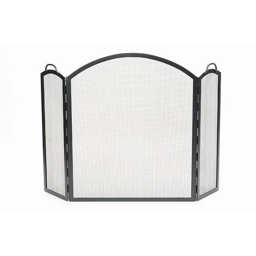Minuteman International Arched 3 Panel Wrought Iron Fireplace Screen