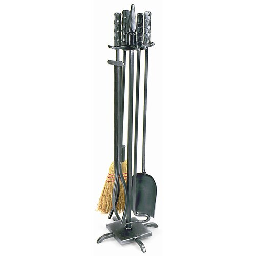 Minuteman International 4 Piece Wrought Iron Fireplace Tool Set