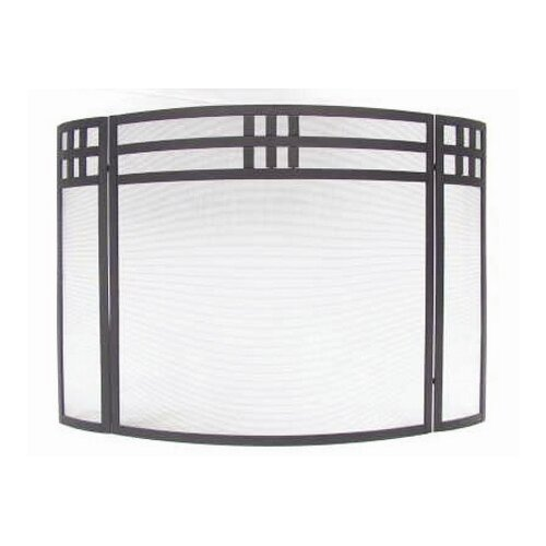 Minuteman International 3 Panel Wrought Iron Fireplace Screen