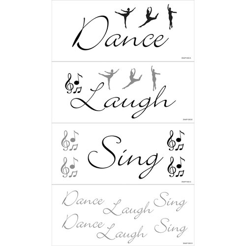 Blue Mountain Wallcoverings Dance, Laugh, Sing Wall Decal