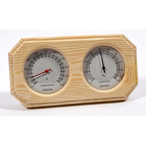 Baltic Leisure Deluxe Wood Thermometer and Hygrometer