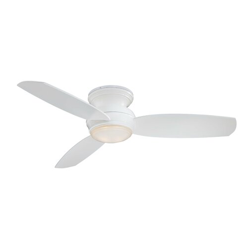 minka aire 52 traditional concept 3 blade flush mount ceiling fan