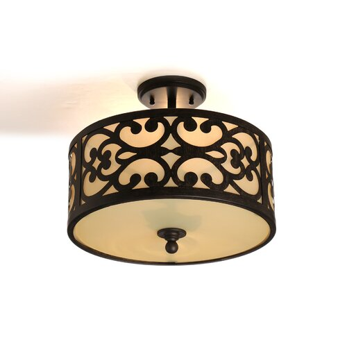 Minka Lavery Spazio 3 Light Semi Flush Mount