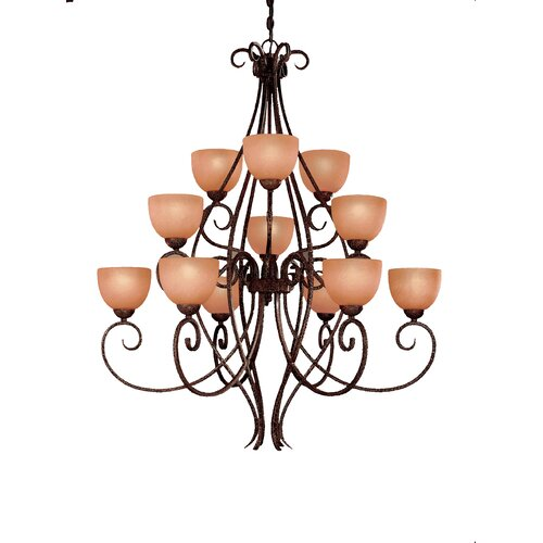 Caspian 12 Light Chandelier