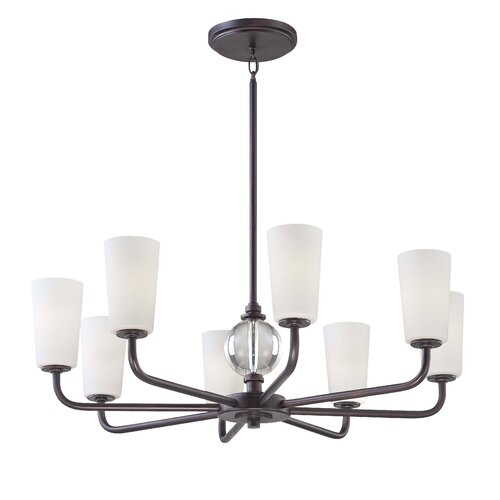 Minka Lavery Modern Continental 8 Light Chandelier