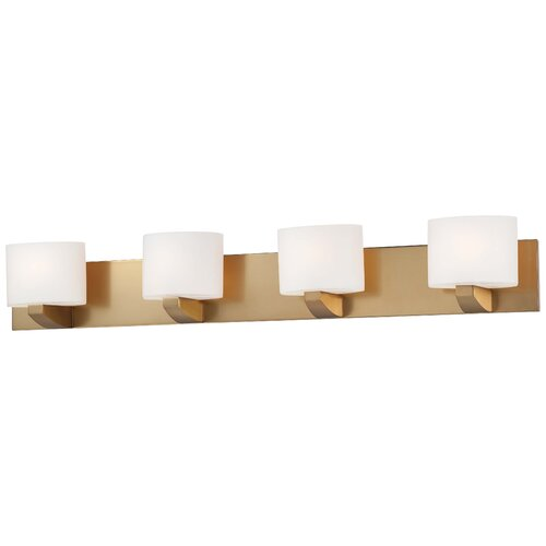 Minka Lavery Modern Craftsman Bath 4 Light Bath Vanity Light