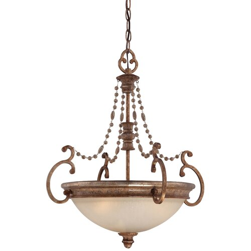 Cornerstone 3 Light Bowl Pendant