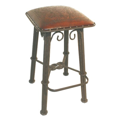 "New World Trading Colonial 26"" Bar Stool with Cushion"