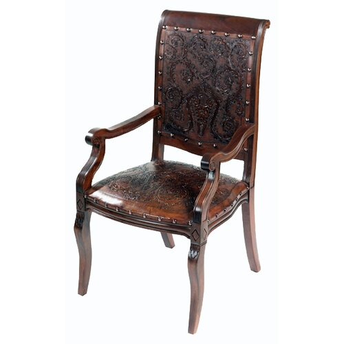 New World Trading Colonial Imperial Leather Arm Chair