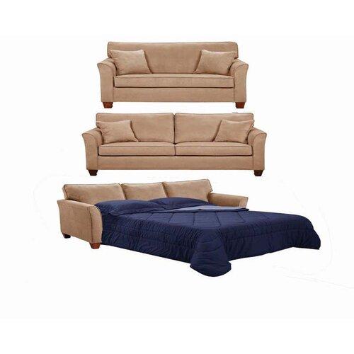 InRoom Designs Chenille Sleeper Sofa