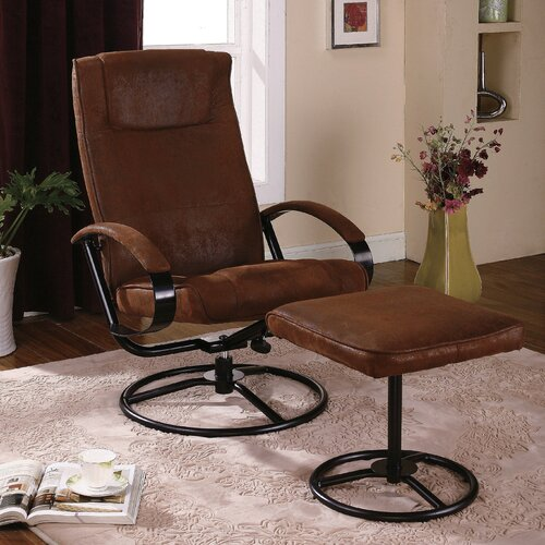 InRoom Designs Reclining Chair and Ottoman
