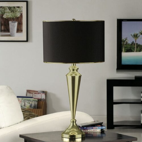 """InRoom Designs Contemporary 29"""" H Table Lamp with Drum Shade"""