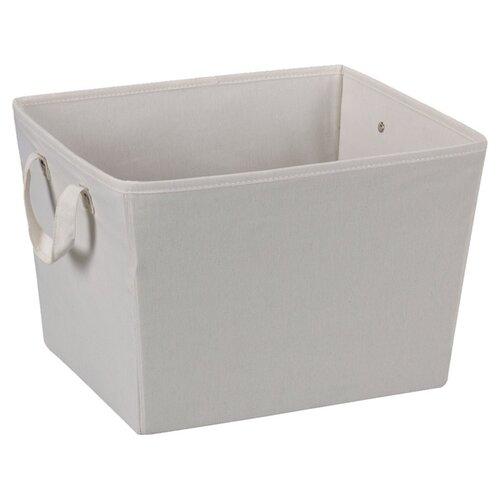 "Household Essentials Storage and Organization 11"" Medium Tapered Bin with Cloth Handles"