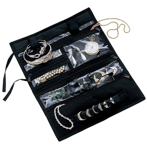 Household Essentials Storage and Organization Roll Jewelry Pouch