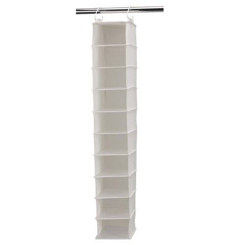 """Household Essentials Storage and Organization 8"""" Deep 10-Pocket Wide Hanging Organizer"""