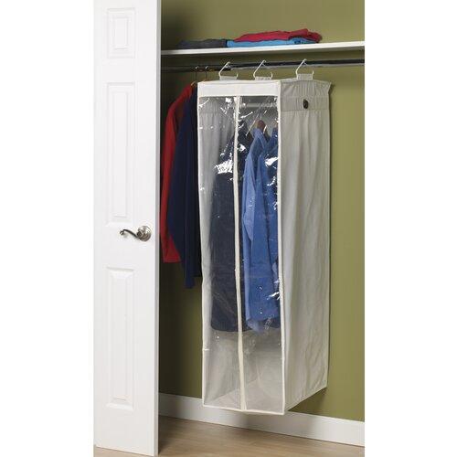 Household Essentials Storage and Organization 2-Compartment Hanging Wardrobe