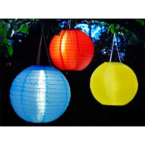 Smart Solar Set of 3 Chinese Round Solar Lanterns