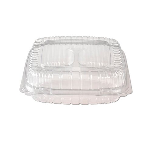 Reynolds Food Packaging Reflections Easy-Lock Plastic Hingeware with 3-Compartment in Clear