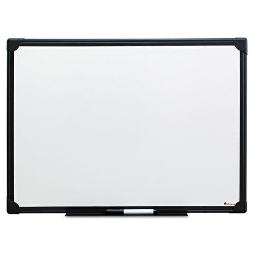 Universal Black Frame Dry-Erase Whiteboard