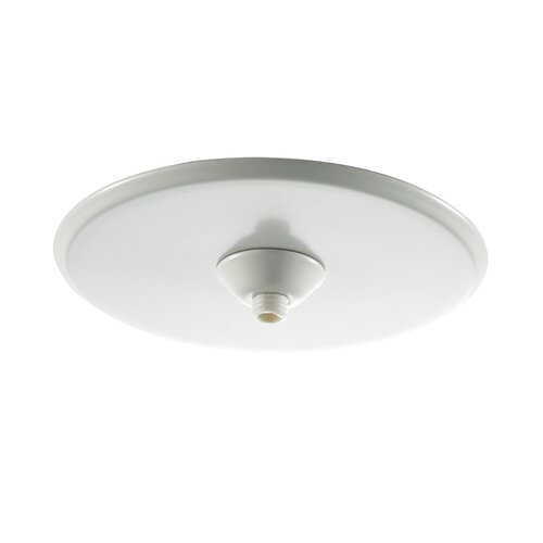 Quick Connect Round Surface Mount Canopy in White