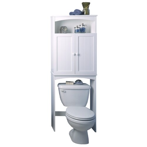 "Zenith Products Cottage 24.63"" x 64.75"" Over the Toilet Cabinet"