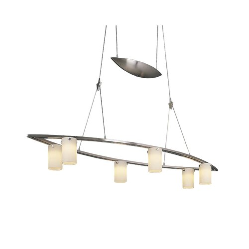 George Kovacs by Minka 6 Light Tilted Counter Weight Chandelier