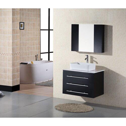 "Design Element Elton 30"" Wall Mount Bathroom Vanity Set"