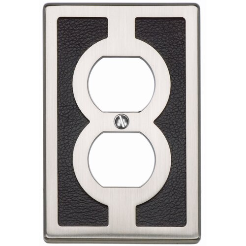"Atlas Homewares 4.9"" Zanzibar Blk Outlet Plate"