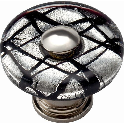 "Atlas Homewares Glass Eclipse 1.5"" Round Knob"