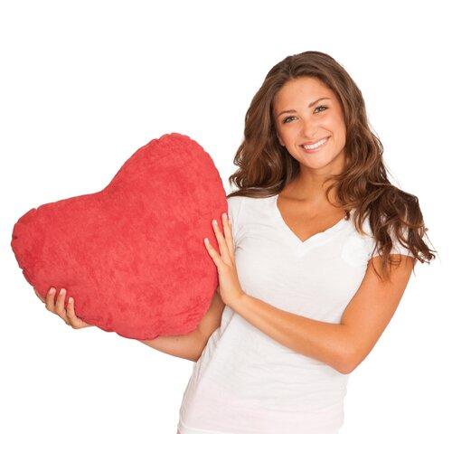 Scarlet Valentine Heart Plush Decorative Pillow