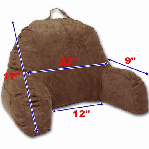 Deluxe comfort microsuede reading bed rest pillow amp reviews wayfair
