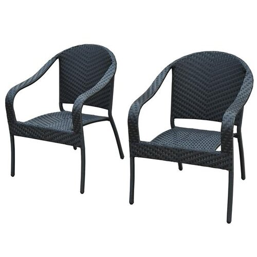 Outsunny Lounge Chairs with Cushion (Set of 2)