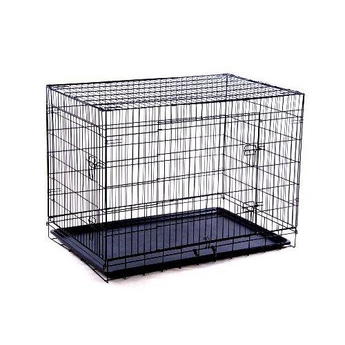 Aosom Big Dog Double Door Pet Crate Reviews Wayfair