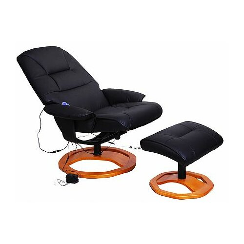 Aosom LLC Reclining Massage Chair with Ottoman