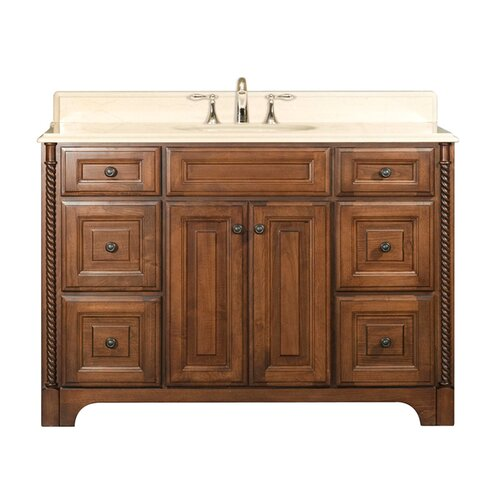 "Water Creation Water Creation Spain 48B 48"" Golden Straw Single Sink Bathroom Vanity  And Spain-MC-4836 Matching Medicine Cabinet"