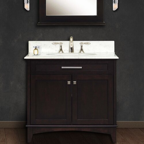 "Water Creation Manhattan 36"" Single Sink Vanity Set"