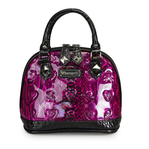 Patent Embossed Snake Skin Mini Tote Bag