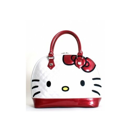Loungefly Hello Kitty Quilted Face Tote Bag