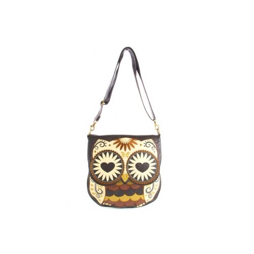Owl with Heart Eyes Cross-Body Bag