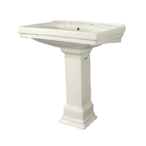 Foremost Structure Bathroom Sink and Pedestal Set & Reviews Wayfair