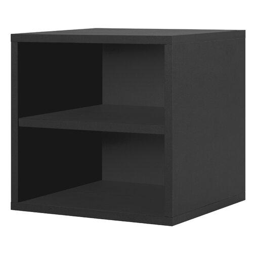 Modular Storage Cube with Shelf in Black