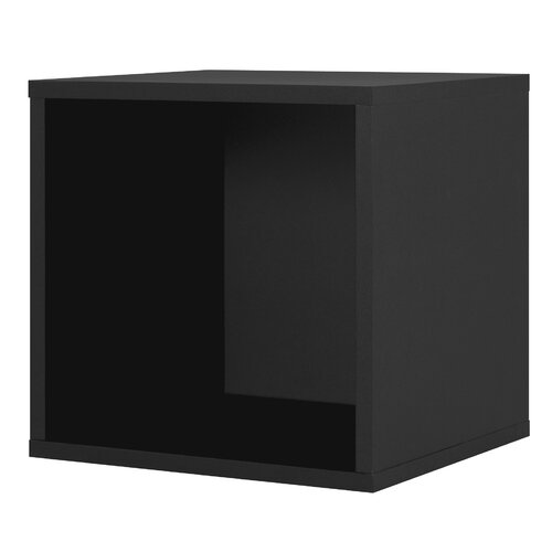 Foremost Modular Storage Open Cube in Black